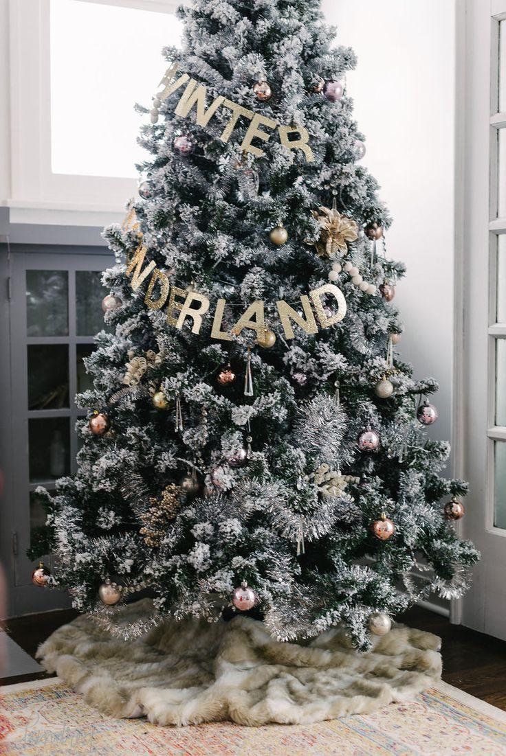 Holiday HouseWalk 2015   Christmas tree garland, Flocked ...