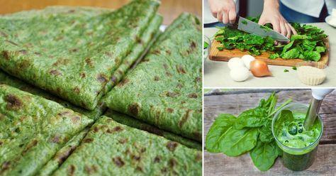 Spinach wraps | Flourless Wraps de espinaca sin harina