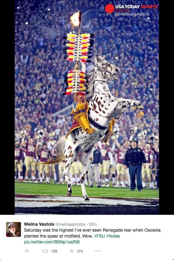 One of the highest rears and best shots of Chief and Renegade I have ever seen. EPIC shot from the UVA game.