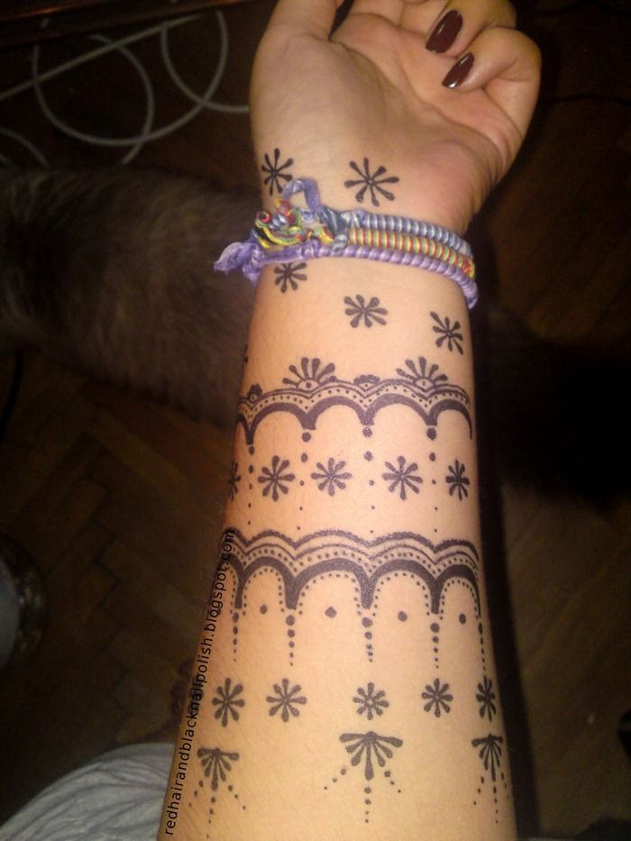 Cool Henna Tattoos: Henna Inspired Tattoo On Arm For