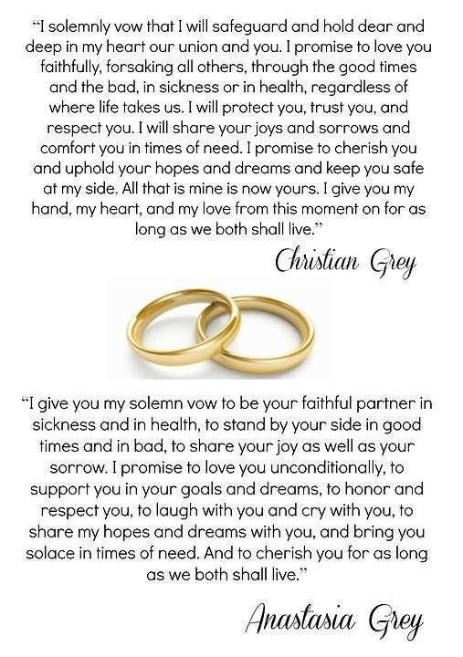 Christian & Ana vows ♡
