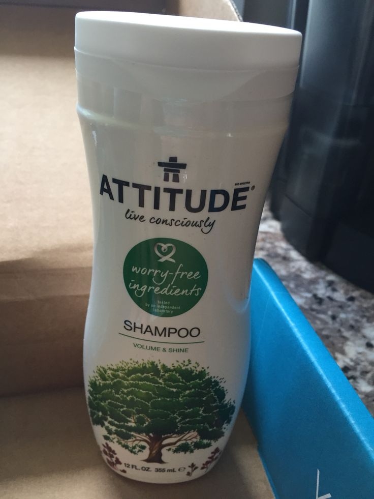 Attitude Shampoo for volume and shine.