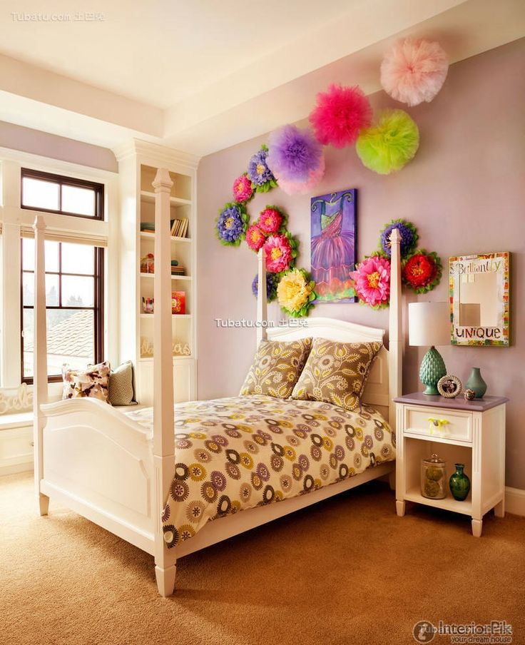The purple aesthetic design effect picture of children's room 2016