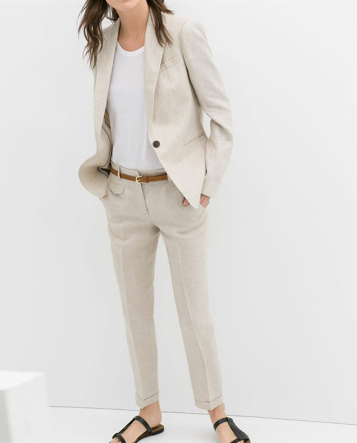 Image 2 of LINEN BLAZER from Zara