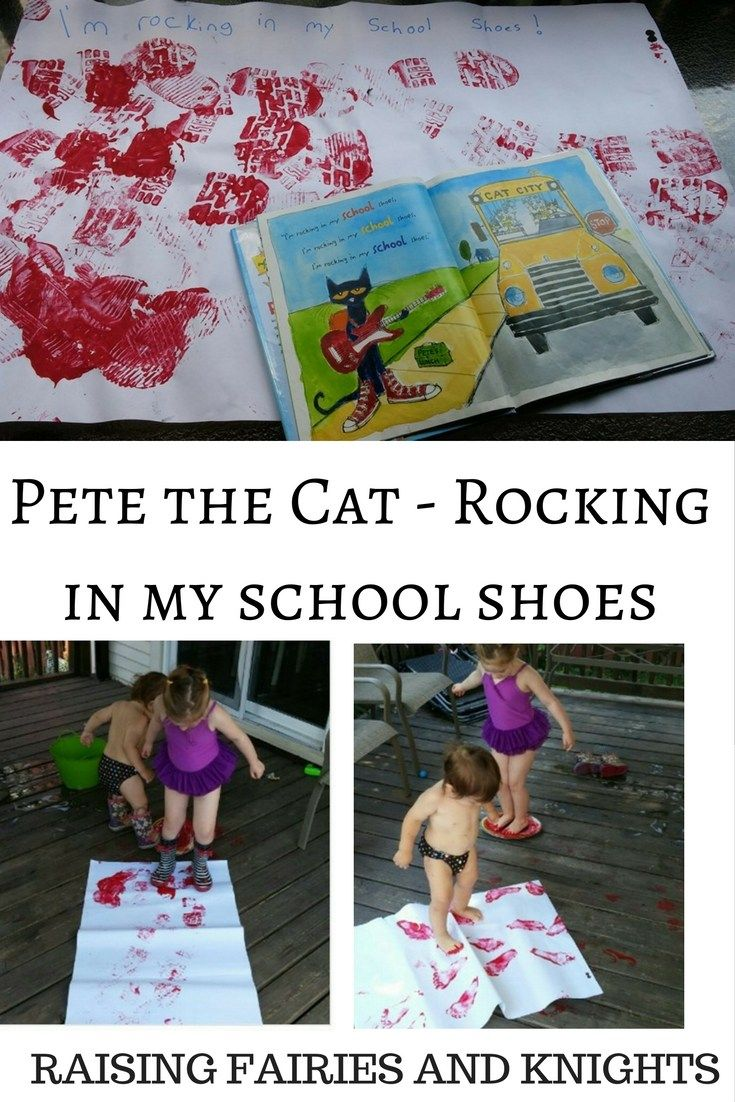 Pete the Cat - Rocking in my school shoes - Come read the book and make the fun craft with your toddler/preschooler/child.
