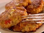 Salmon and Sweet Potato Cakes with Agrodolce Relish and Arugula | Rec ...