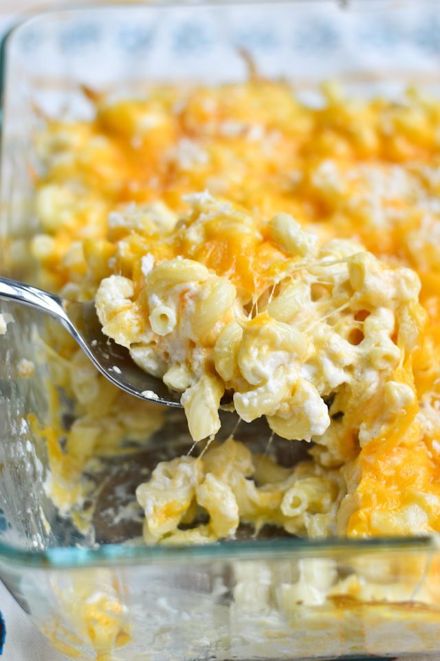 This Greek Yogurt Macaroni and Cheese is a lighter alternative to a comfort food favorite!