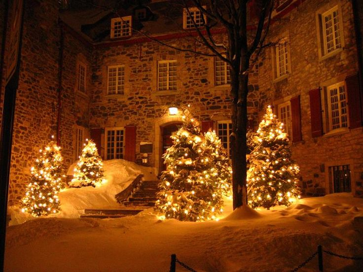 My first Christmas Eve as a married woman was in Quebec, and it looked just like this.
