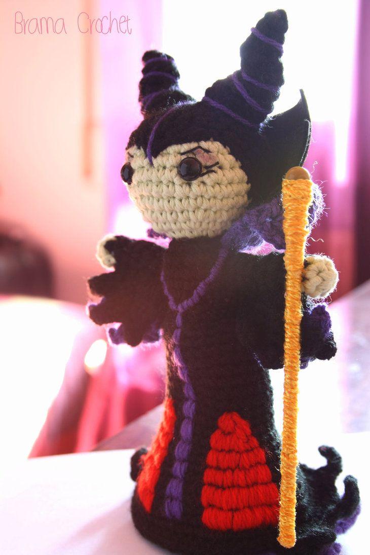 Maleficent crochet amigurumi doll by BramaCrochet on DeviantArt