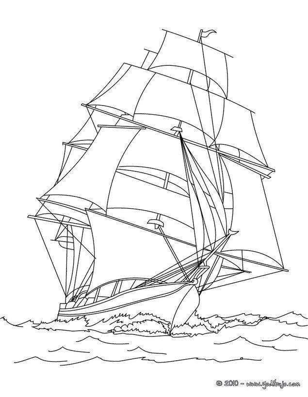 la nina ship coloring pages - photo #17