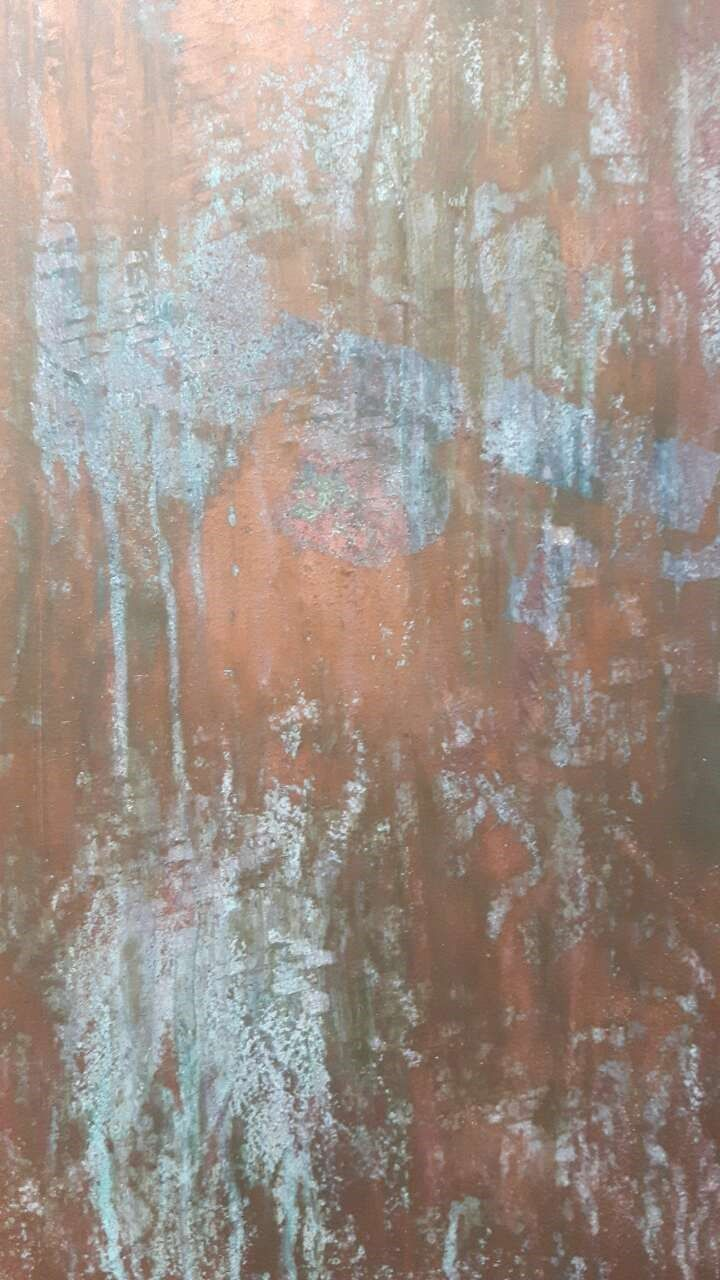 Copper texture using paint