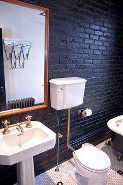 #トイレ #レンガ Parkdale Victorian Renewal - eclectic - bathroom - toronto - Jenn Hannotte / Hannotte Interiors