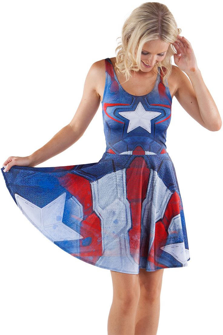 Captain America Suit Skater $85.00 AUD - LIMITED