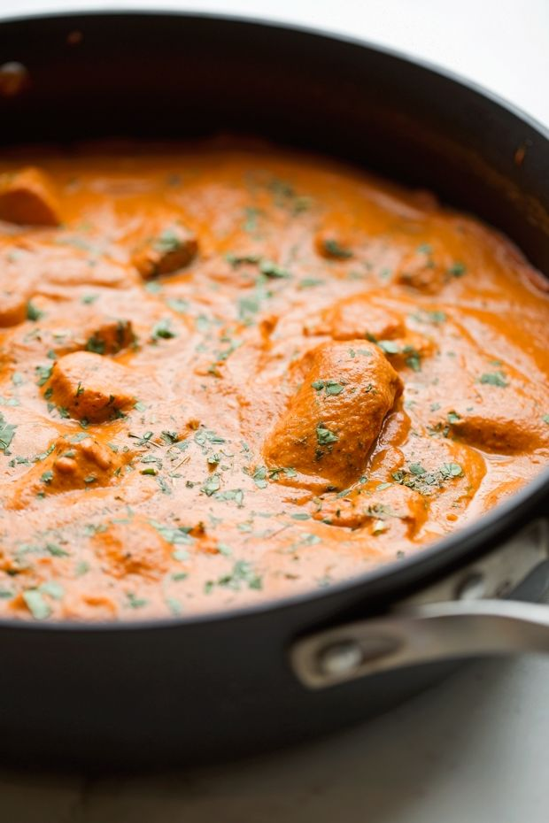 The best, most authentic butter chicken recipe out there! Restaurant-style butter chicken (murgh makhani)right at home with simple ingredients!