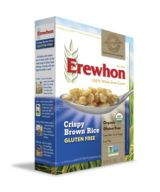 Erewhon Organic Cereals  It's the cereal you can feel good about eating whether you're enjoying our Organic Whole Wheat Raisin Bran, Organic Rice cereals, Organic Corn cereals or Organic Buckwheat cereal. Our Erewhon organic cereals are made of non-GMO ingredients and feature eight certified gluten-free flavors.
