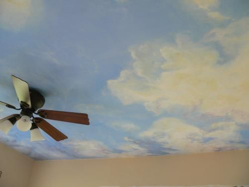 24 best cloud mural images on Pinterest | Photo mural, Attic ideas ...