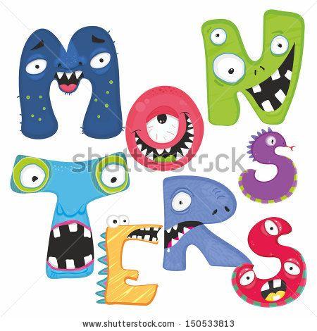 Letras Monstruos Fotos, imágenes y retratos en stock | Shutterstock