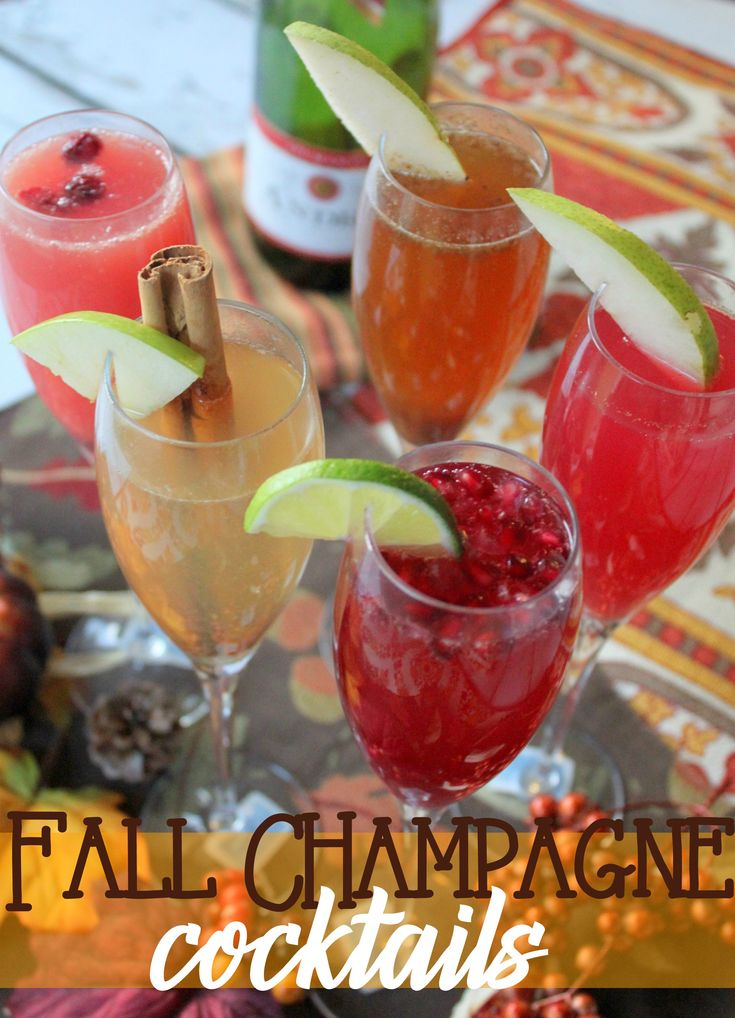 Fall Champagne Cocktails with Andre Champagne #EpicWithAndre