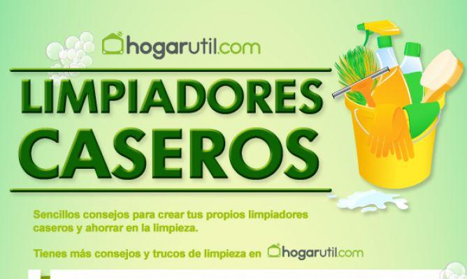 Infografía para hacer limpiadores caseros - Hogarmania