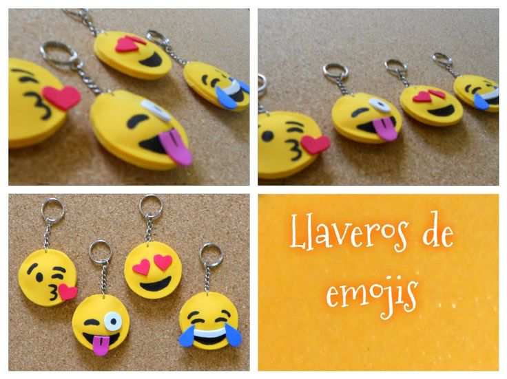 DIY Cómo hacer llaveros de emojis o emoticones