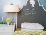Cute DIY Chalkboard Headboard