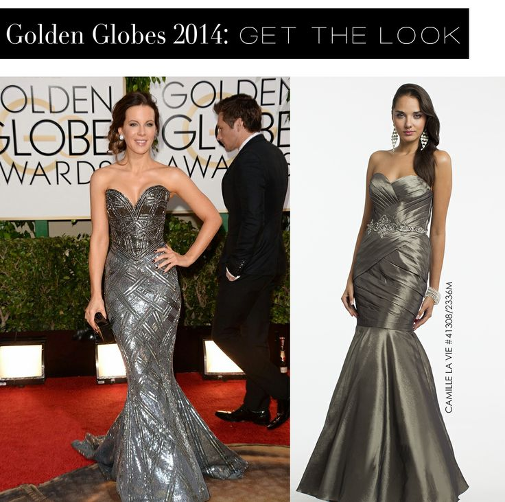 Kate Beckinsale at the Golden Globes 2014 and the Camille La Vie dress version for less
