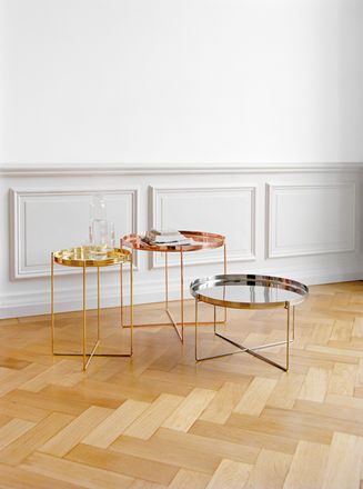 habibi metal, copper and brass side tables !