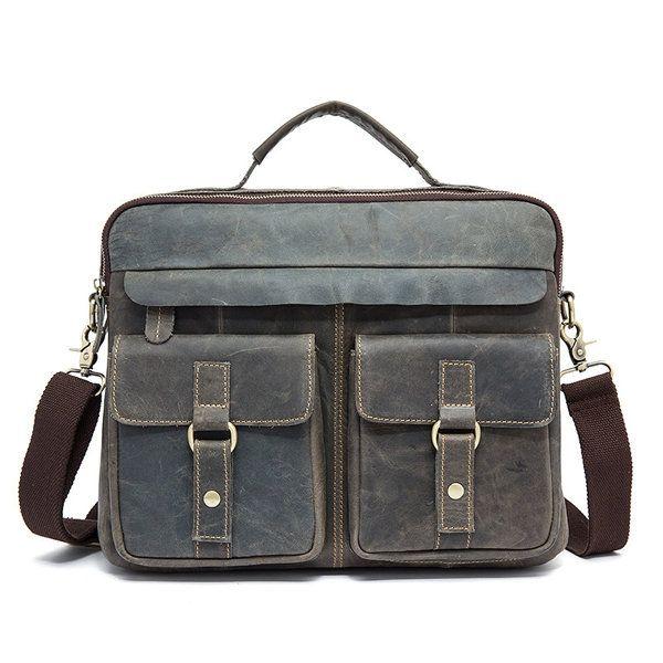 46f94143cf23 US 95.47 - Genuine Leather Sling Bag Vintage Handbag Dual-use Crossbody Bag  For Men