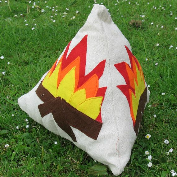 Campfire Cushion fire pyramid indoor campfire by SunbowDesigns