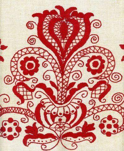 Kalotaszegi cushion - Transylvania - Tree of life, world tree, a symbol of God