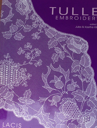 purple tulle embroidery book
