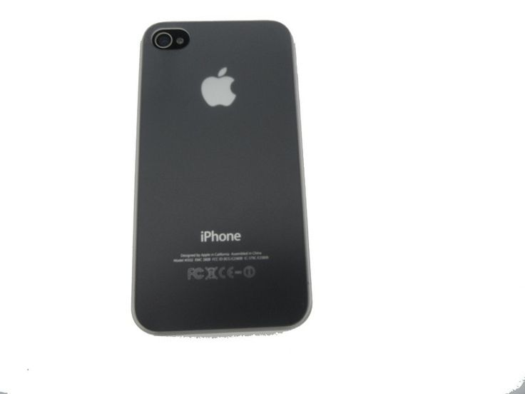 Ultra dunne premium Backcover Case iPhone 4 & 4S wit