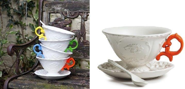 Seletti I-Tea Renkli Kulplu Porselen Çay Fincanı - Satın Al