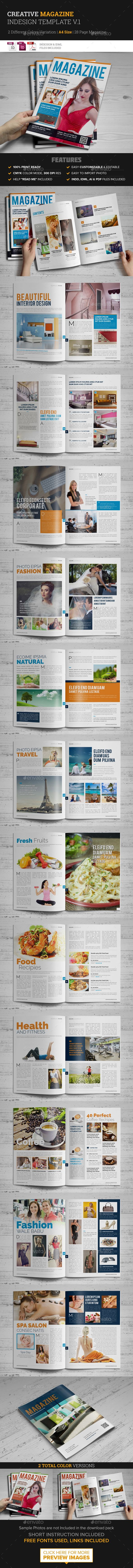 28 Page Magazine InDesign Template #design Download: http://graphicriver.net/item/28-page-magazine-indesign-template-v1/14101533?ref=ksioks
