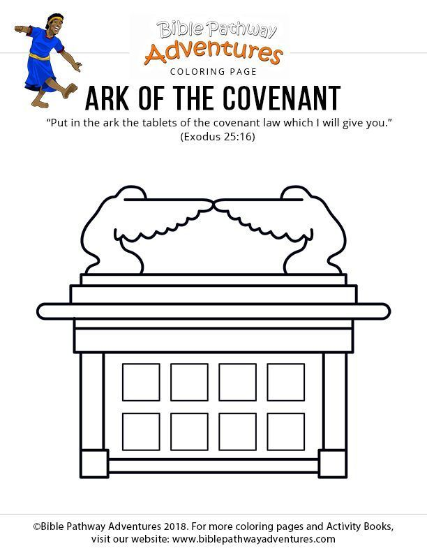 Bible Coloring Page Ark Of The Covenant Bible For Kids Bible