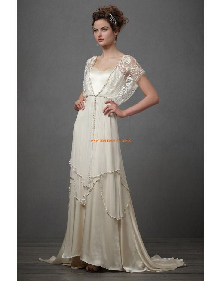 Wunderschöne Bodenlange Hochzeitskleider aus Taft