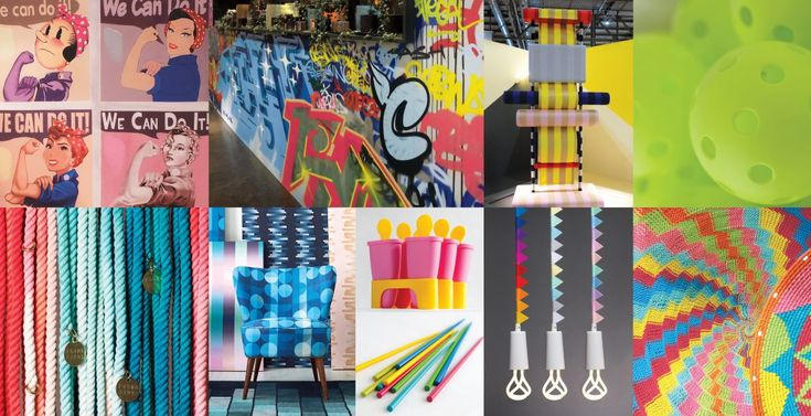 """2018 PantoneView Home + Fashion palettes: Playful – Speaking to our need for whimsy (""""People need to stop and smile"""" said Eiseman), the Playful palette is out-of-the ordinary and quirky. The colors are """"bright-hearted more than light-hearted"""" with names to match, like Minion Yellow, Lime Popsicle, Green Flash and adventurous blue Skydiver."""