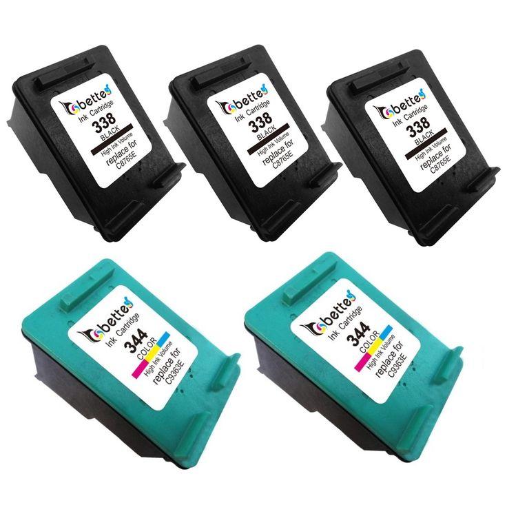 5PK,Ink Printer Cartridges for HP 338 344 hp338 hp344 Officejet 100 L411a 150 L511a H470 H470b H470wf K7100 K7103 K7108 PSC 2355
