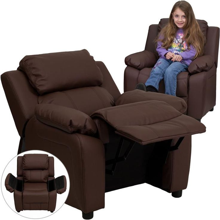 Child's Recliner Overstuffed Padding for Comfort Easy to Clean Upholstery  with Damp Cloth Flip-Up - 41 Best Kids Recliners Images On Pinterest Kid Room Storage