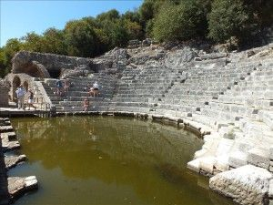 Butrint - ancient Buthrotum, a port from Hellenistic to Ottoman times, is a UNESCO World Heritage Site in south-west Albania.