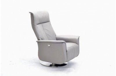 Vettel recliner Ritz recliner light grey fabric footrest steel 360 danish design hjort knudsen www.helsetmobler.no