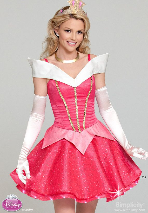 "Sleeping Beauty Adult costume. PLEASE more of this instead of ""Slutty…"" every, freaking time! Just dress like something instead of wearing lingerie! It's not ""Whoreoween!"""