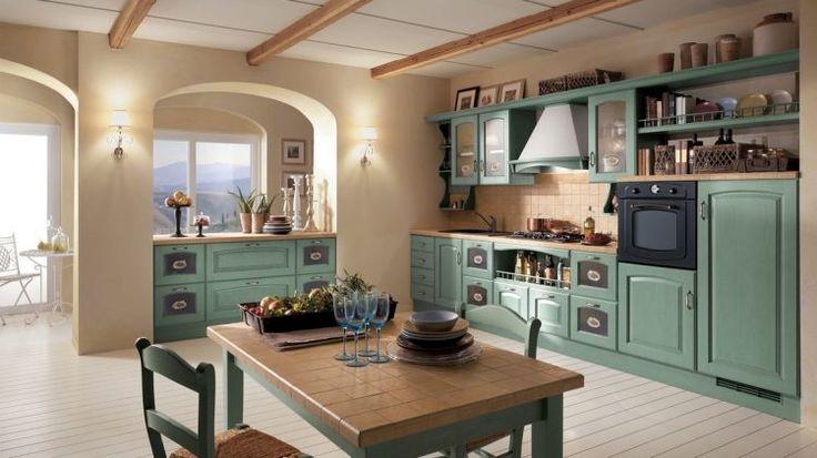Scavolini konyhabútor - klasszikus olasz konyhák tradicionális, vidéki, mediterrán stílusokban - Madeleine