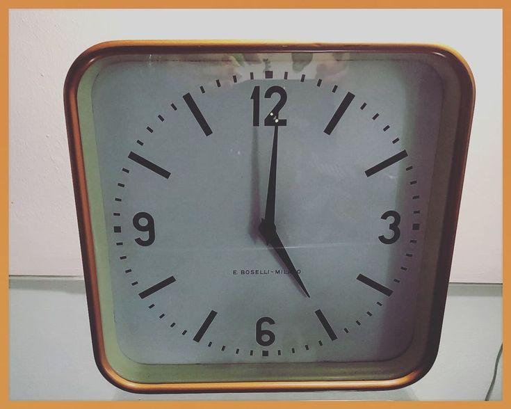 Orologio da Muro Vintage BOSELLI Gio' Ponti anni '50/'60 Quadrato Oro Working | eBay