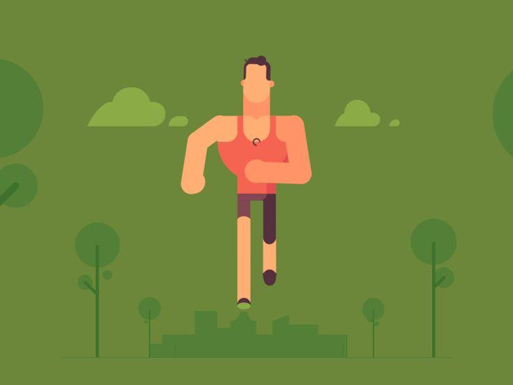 Run Forrest Run! by Valentin Kirilov #Design Popular #Dribbble #shots