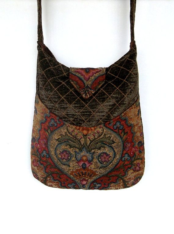Tapestry Gypsy Bag Messenger Bag Bohemian Olive by piperscrossing