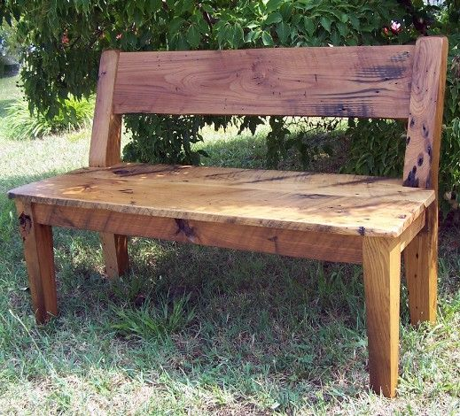 25 best ideas about wooden benches on pinterest wooden for How to build a wooden bench with a back
