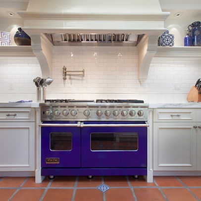 Cobalt Blue Viking Range Design Ideas, Pictures, Remodel, And Decor   Page  16