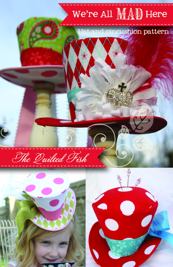 For the Mad Hatter Tea Party (simply fabulous hats! Wish I had talent like this to make them. Like to think I would wear them more often if I could make my own ~Imelda)