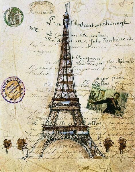 Париж. Винтажные изображения для декупажа, скрапа, коллажей. #картинки_для_декупажа@handmade_blog